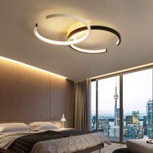 LED Plafonnier Anneau Dimmable Salon Lampe Luminaire